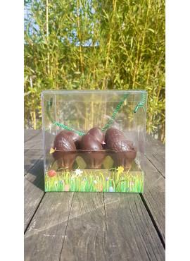 Boîte à oeufs en Chocolat noir