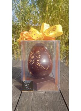 Oeuf en Chocolat noir de papouasie grand modèle